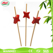 Heart-shape art decoration bamboo skewer