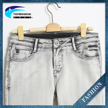 New design mens destoryed zipped denim jeans pants