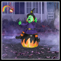 Giant Monster Lighted Halloween Inflatable Airblown Pumpkin