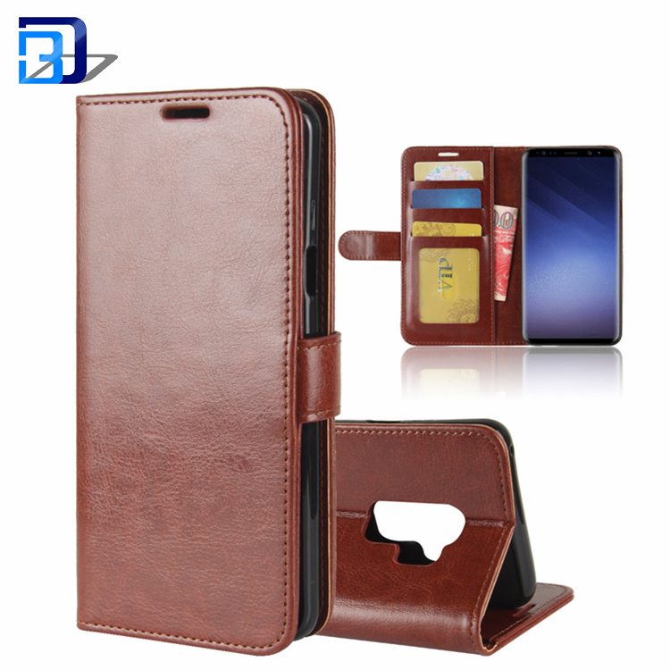 Bulk Buy From China Premium Wallet Stand Cover Magnetic Book Flip Leather Phone Case For Samsung Galaxy S9 Plus