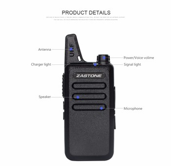 2018 New arrival UHF walkie talkie ZASTONE ZT-X6 walkie talkie  400-470MHz handheld two way radio