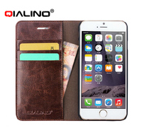 2016 Top quality Genuine Leather Wallet Case For iPhone 6 6S and Plus