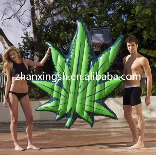 Innovative inflatable leaf pool float