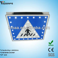 LED Solar power pedestrian crossing signs