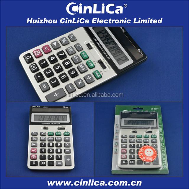 JS-20LT 12 big digit marginal cost calculator, desk top calculators