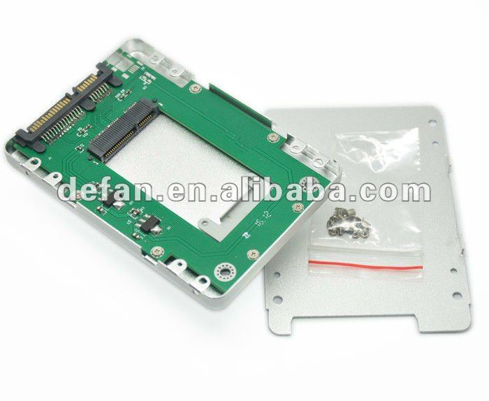 "Micro SATA to Standard 2.5"" SATA Converter SSD Case/caddy/enclosure for Laptop and Netbook"