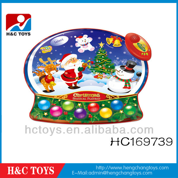 Christmas snowman music play mat,2013 new baby playmat,fisher price baby paly mat HC169739
