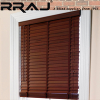 RRAJ Wood Window Venetian Blinds 50mm Luxury Curtain