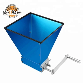 304 Stainless Steel Homebrew Grain Roller Malt Mill  with Rubber Strips Protect Loop for Beer