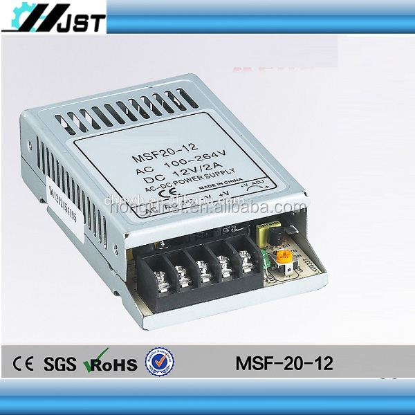 High quality OEM MSF-20-24 ac to dc single output thin 24v 5 amp power supply