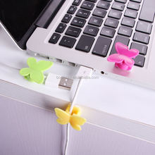 1 dollar Plastic adhesive tape butterfly cable holder slogan mobile phone accessories case