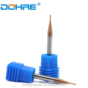 0.6mm micro diameter bits end mills Processing steel Purple copper