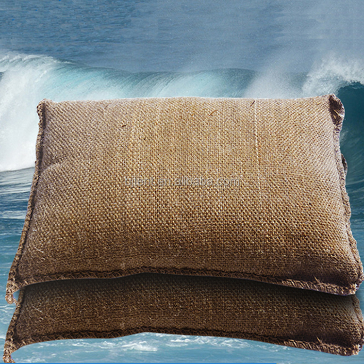 flood control jute bag, water inflation jute bag ,emergency water jute bag