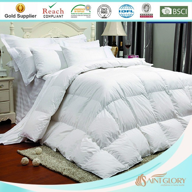 home textile comforters hot sale white duck down feather comforter