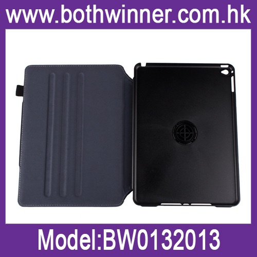 Oblique fabric rotating shape gear leather case for iPad Air