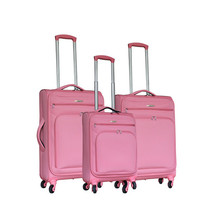 Customized Color Abs 3 Piece Trolley Luggage Set
