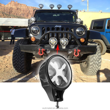 Round 6'' Auxiliary Light 60W 6INCH LED Headlight For Jeep Wrangler JK CJ XJ TJ