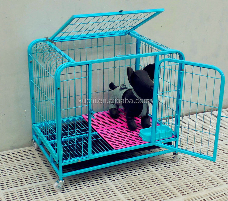 Wholesale Iron Dog Cage With Universal Wheels