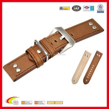Fashion Watch Leather Band, 22mm Wide Leather Cuff Watch Bands for Men
