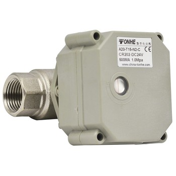 NPT/BSP1/2'' 2 way AC/DC12v/24v  SS304  motorized indicator ball valve