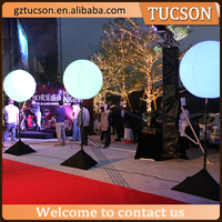 Color changing LED light inflatable stand balloon for party/event