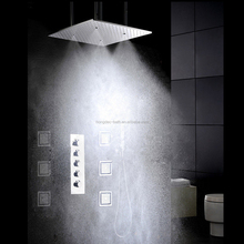 "Bathroom 20"" Big Rain Ceiling Stainless steel Mounted Eco Spa hidden Thermostatic Shower Set"