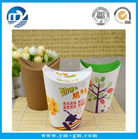 Chicken rice packing barrel French fries box Kraft food packaging box