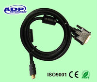 High quality HDMI to VGA adapter Cable 1M gold connect adapter MALE-MALE