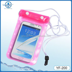 Portable outdoor transparent Waterproof cell phone/camera bag/case Universal Cell Phone Waterproof