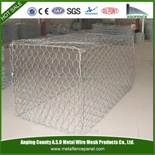 Facotry price galvanized and pvc coated Anping hexagonal mesh gabion box