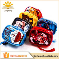 Professional printed cartoon school zipper pvc bag for students