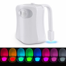 Decorative 8 colors changing LED light toilet, motion sensor activated LED toliet light