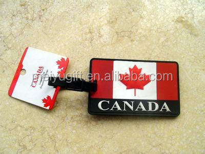 hign quality cheap national flags travel tag for travel agency