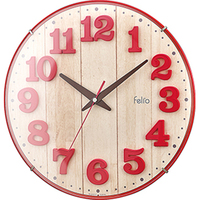 3colors lovely kids big clock 3d with Ivory Navy blue and Red