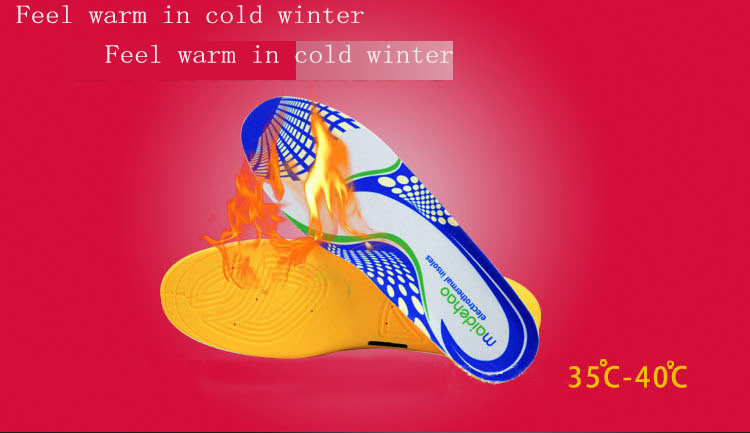 New Design Rechargeable Winter Battery Heating Pu Insole