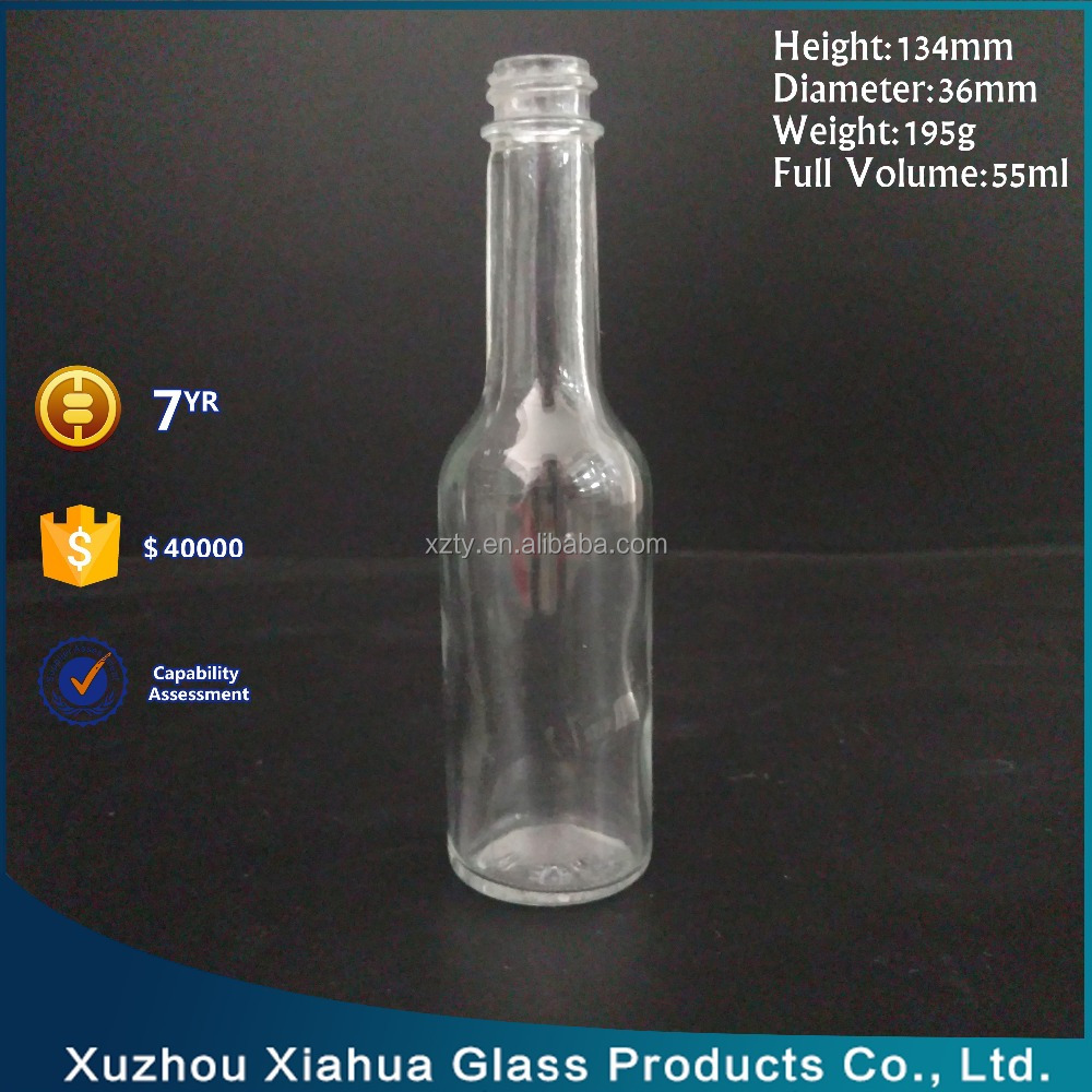 50ml cooking oil/sauce use screw cap glass bottle