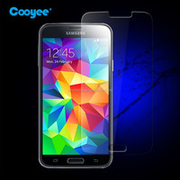 In stock!!Clear gold tempered glass screen protector for Samsung S5