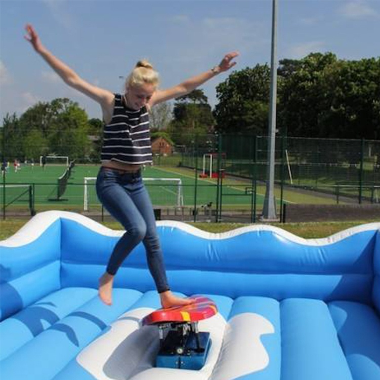 Inflatable sport game inflatable surf simulator with mattress / mechanical surfboard
