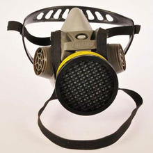 two carbon filters half face gas mask for poison protection