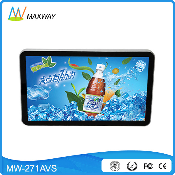 HD 1080P 27 inch indoor advertising lcd screen