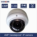 Professional 4 Megapixel Onvif Full HD Vandalproof Dome IP Camera for wholesales