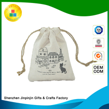 Wholesale gift small cotton muslin drawstring bags