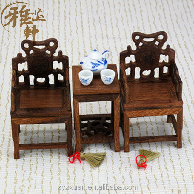 2017 High Quality Wenge Furniture Chinese Antique Wooden Carved Miniature Dollhouse Furniture Model For Wholesale