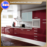 2015 new high glsosy water proof ready made kitchen cabinets made in china kitchen furniture designs
