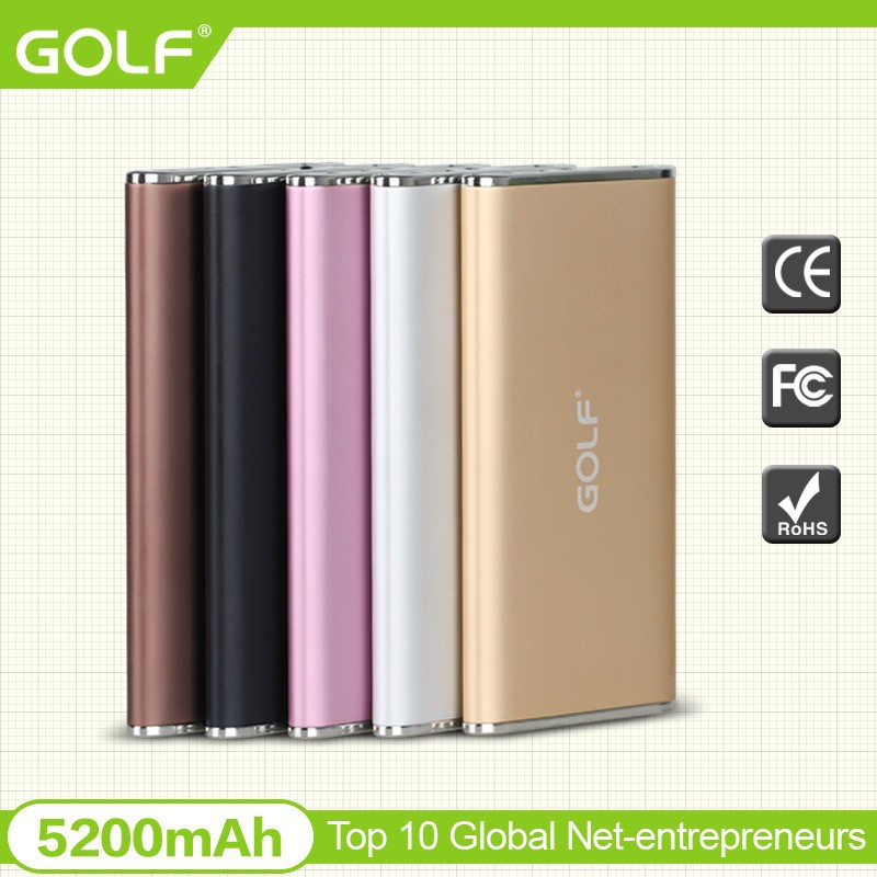 Ultra slim design Portable Power Bank 5200mah high Capacity Metal Power Bank Mobile Charger