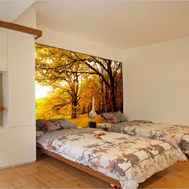 saln pasillo pared d caliente puesta de sol paisaje papel pintado mural instalador proveedores montaa rbol