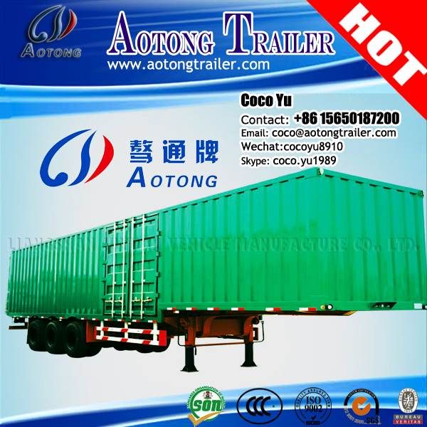Hot Sale Multi Purpose box Type Station 2/3 Axles 35ton-60ton Transport Wagon van cargo Truck Semi Trailer