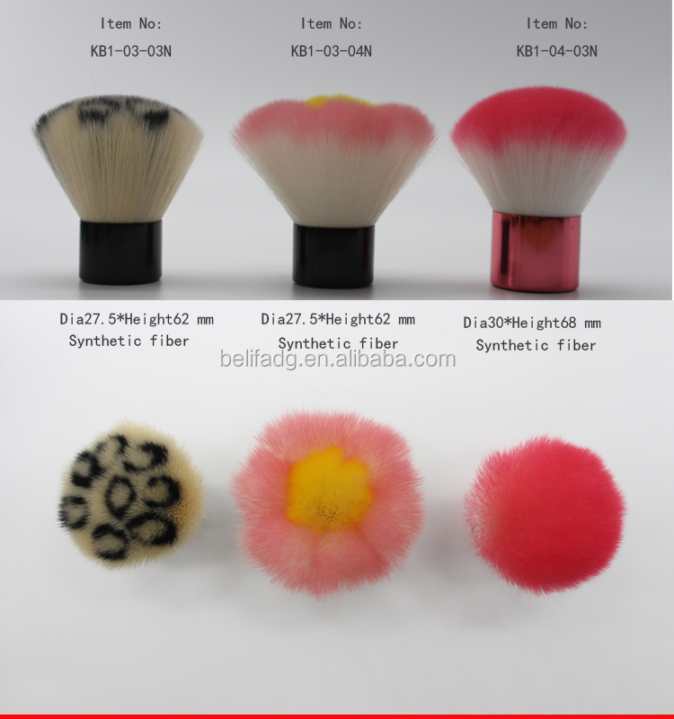 synthetic and goat hair make up brush kabuki brush in brush
