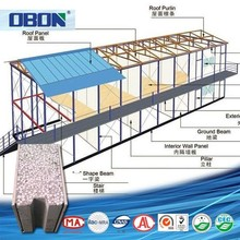 2015 china manufacture supplier the latest design steel prefab house