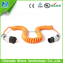 Mode 3 iec 62196 female to male evse cables connector three phase 32a 22kw ev charging connectors/type 2 tesla charging stations